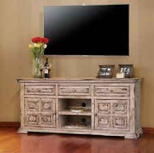 new solid wood 72 inch tv stand console w 2 doors 3 drawers