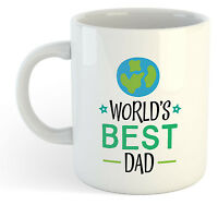 Worlds Best Dad Mug - Fathers Day Tea Coffee Funny