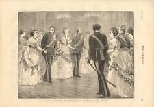 1873 ANTIQUE PRINT- DANCE - FANCY QUADRILLE REPRESENTING FLOWERS OF THE MONTH