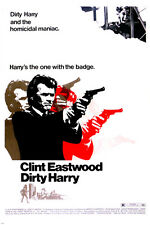 classic DIRTY HARRY MOVIE POSTER clint EASTWOOD rare NEW HOT 24X36