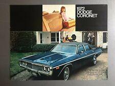 1972 Dodge Coronet Showroom Advertising Sales Folder Brochure RARE Awesome