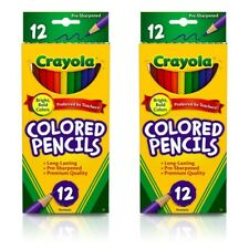 Crayola Classic Colored Pencils - 12-Color Set (2 Pack)