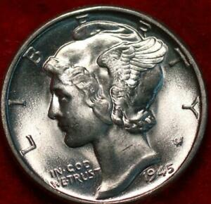 Uncirculated 1945 Philadelphia Mint Silver Mercury Dime