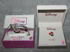 NEW Disney Necklace & Bracelet Set Minnie Mouse & Mickey Mouse ($120 Retail)