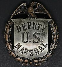 VINTAGE OBSOLETE DEPUTY U.S MARSHAL Badge Las & sco Collector Police rare Badge