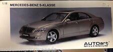 Mercedes-Benz S CLASS (S KLASSE) S550 PEWTER SILVER 1:18 by AUTOart BOX NOT MINT