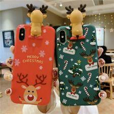 Linda Funda de teléfono de Navidad para iPhone 11 XR 8 7 XS Max SE 2020 X Plus