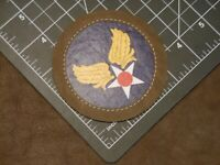 WW2 AAF HQ Shoulder Patch / Russet Ring / Free Global Shipping