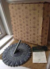 Vintage Virginia Metalcrafters Sunflower Sundail New In Box!