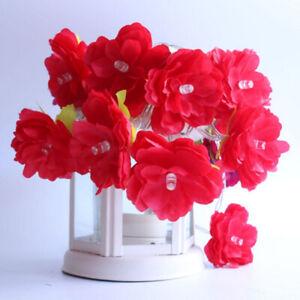 LED Rose Flower String Battery Fairy Lights Wedding Xmas Party Home Decor UK
