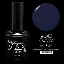 MAX 15ml Soak Off Gel Polish Nail Art UV LED Color #042 - Oxford Blue