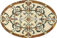 3'x2' White Marble Dining Furniture Table Top Handmade Inlay Mosaic Decor H5020A