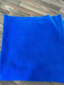 Polar Fleece Royal Blue Fabric/ Soft Warm Blanket/Throw Material 1.5 x 1 metres