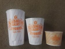 Vtg Goshen Dairy New Philadelphia, Oh Lot 2 Foam Drink Cups & Wax Ice Cream Cup