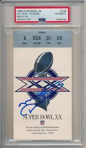 Mike Ditka Signed Chicago Bears Super Bowl XX Ticket Stub 1/26/1986 PSA/DNA Auto