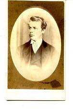 Handsome Young Man-Colored in Tie-Brigg-England-CDV Vintage Antique Photograph