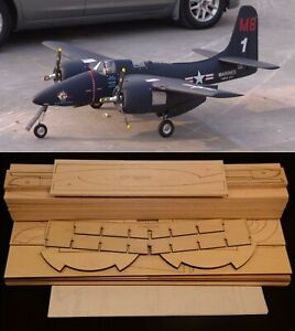 "103"" Wingspan F7F TIGERCAT R/c Plane short kit/partial kit and plans, PLS READ"
