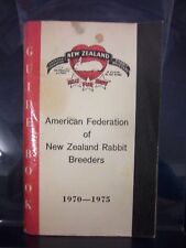 American Federation of New Zealand Rabbit Breeders/Guide Book(1970-75) PB 180703
