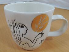 Starbucks Anniversary Mermaid Coffee Mug New Bone China White Gold Cup 10oz 2013