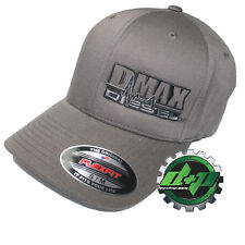 Duramax hat ball cap fitted flex flexfit stretch Chevy Dmax dark gray grey s/m