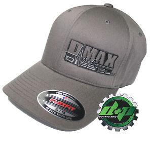 Duramax hat ball cap fitted flex flexfit stretch Chevy Dmax dark gray grey s/m