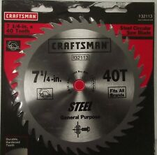 "Craftsman 32113 7-1/4"" x 40 Tooth Steel Circular Saw Blade"