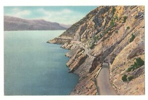 Yellowstone National Park, Postcard, Unposted, Mountains, Road, Sea, Good Card.