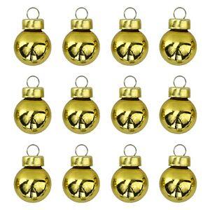 IKEA VINTERFEST Christbaumschmuck Kugeln Minikugeln goldfarben 12 Stück