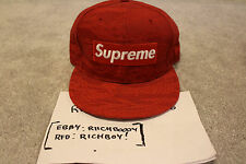 "*NEW* DS New Era Supreme ""Red Tiger Camo"" Fitted - Size 7 3/8"
