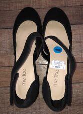Women's 10W Me Too Black Wedge Sandals