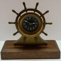 "Antique 1914 CHELSEA ""Yacht Wheel"" WWI Era Bronze 8 Day Mantel Shelf Ship Clock"