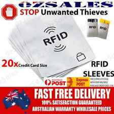 20x Credit Card ID RFID Blocking Sleeve Shield Holder Protector 2