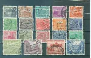 """Berlin  Nr. 42 – 60 """" Bauten 1949"""" gestempelt"""