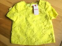Ted Baker Girls' Lace Top - Yellow - Age 9, 10, 11 & 13 Years BNWT