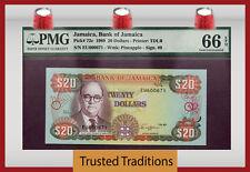 TT 1989 JAMAICA 20 DOLLARS PICK # 72c PMG 66 EPQ GEM FINEST KNOWN