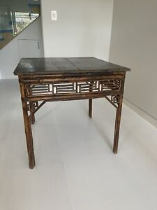Orient House feature Table with Bamboo Detail - Top needs a bit of Restoring