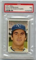 1971 Dell DAVE MOREHEAD Rare TODAY'S TEAM STAMPS PSA 7 NM Kansas City Royals