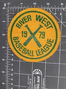 Vintage River West Baseball League 1979 Patch Youth American Little League RWBL