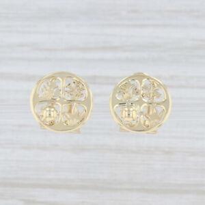 4 Seasons Earrings 14k Yellow Gold Non-Pierced Clip-On Spring Summer Fall Winter
