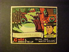 1936  GUM  INC.  G-MEN  R-60   #14  FOLLOWING FOUR WANTED KILLERS   NM-MT