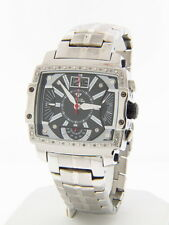 Aqua Master Men's W#329-1 Silver Stainless Steel with Black Accents Quartz Watch