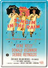Retro Tin Metal Postcard 'SINGIN' IN THE RAIN' Mini Sign 10 x 14cm Movie Advert