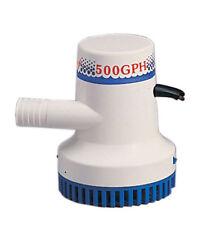 "Marine Boat  500 GPH ABS Manual Bilge Pump 12V Straight hose Adaptor 3/4"" Hose"