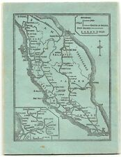 Map of Malaya on 1940s-50s Note Book
