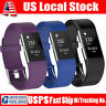 3 Pack Replacement Wristband For Fitbit Charge 2 Band Silicone Fitness Small USA