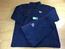Nike Gonzaga Bulldogs 2 Piece Tracksuit Navy Red Zip Up Jacket Sz L Pant Sz XL