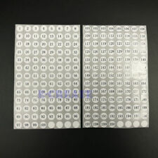 10mm Sticky Numbered Labels 1 To 200 number Label Stickers 800 small stickers