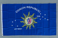 Conch Republic 3x5 Flag Blue Stars Shell Polyester 2 Brass Grommets Key West