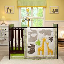 Carter's Animals Collection 4p Crib Baby Bedding Set Zoo Friends Turtle Hippo