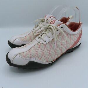 FootJoy Women's Superlites Golf Shoes Size 9.5 M Style 98821 Pink White Golfing